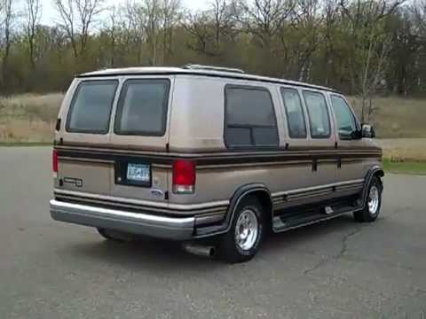 1997 ford ecoline conversion van youtube. Black Bedroom Furniture Sets. Home Design Ideas