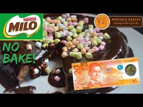 30 PESOS NO BAKE MILO CAKE! | HOW TO MAKE 3-INGREDIENT FLOURLESS CAKE | Ep. 12 | Mortar & Pastry