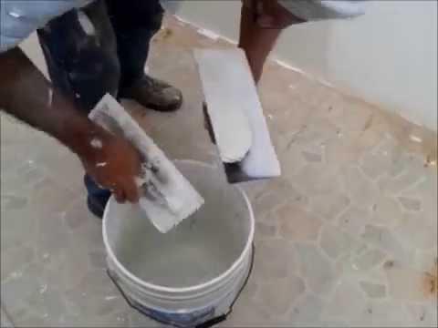 Aplicacion de pasta tipo yeso youtube - Aplicacion de microcemento en paredes ...