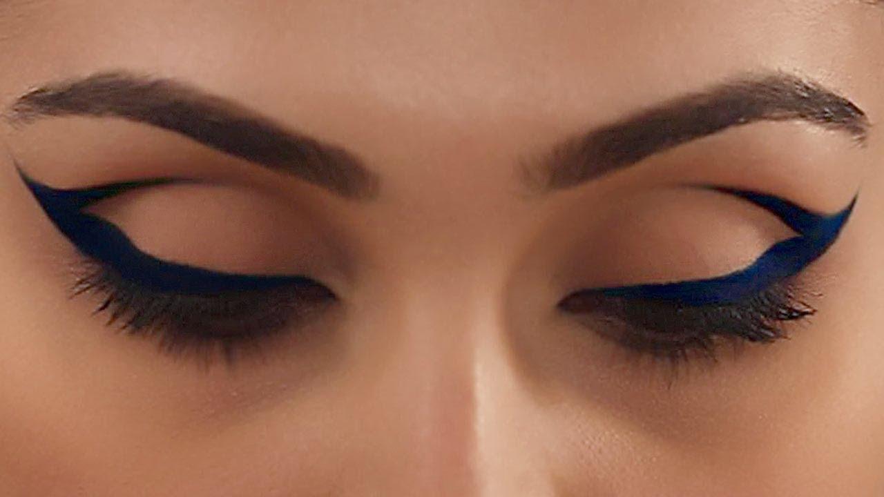 Cobalt Blue Cat Eye Makeup Expert Makeup Tutorial Glamrs Youtube