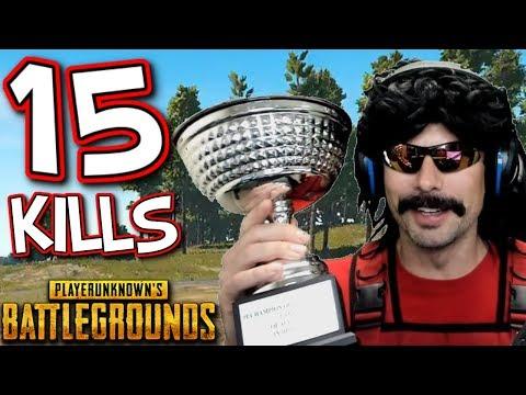 DrDisRespect's 15-KiII Solo Game on Battlegrounds!