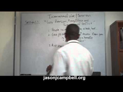 24.  International War and Terrorism Prospect Theory and Risk