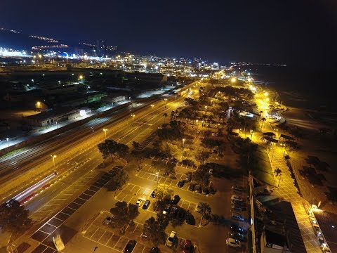 Drone footage of Rav Aluf David El'azar (Dado) Beach Haifa