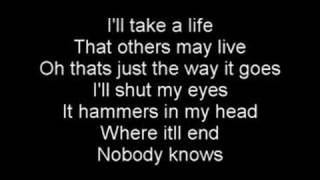 lyrics in video. hammerhead by the offspring.