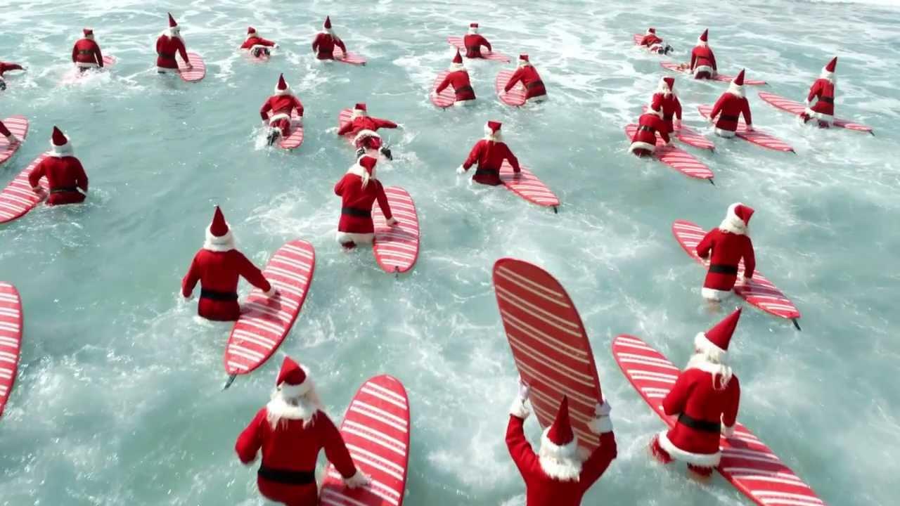 Christmas In Australia Santa.Aldi Surfin Santas