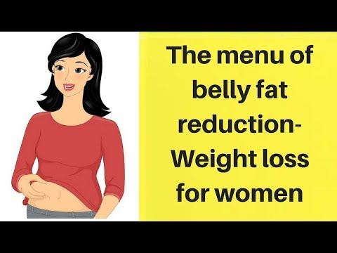 the menu of belly fat reduction-Weight loss for women