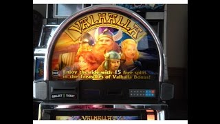 HIGH LIMIT Treasures of Valhalla slot machine HUGE WIN HANDPAY!!! 105 SPINS! Retrigger