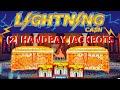 ⚡️(2) HANDPAYS LIGHTNING CASH SAHARA GOLD HIGH LIMIT ⚡️LINK MOHEGAN SUN SLOT MACHINE