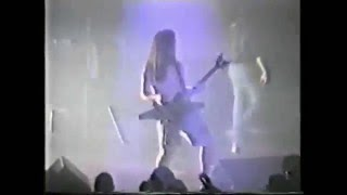 DIMEBAG WITH ONE OF HIS FIRST WASHBURN AXE LIVE