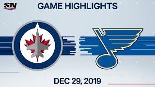NHL Highlights   Jets vs. Blues - Dec. 29, 2019