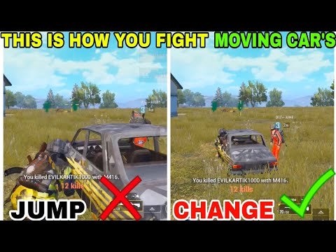 ALWAYS USE THIS TRICK WHILE FIGHTING MOVING CAR'S • (15 KILLS) • PUBG MOBILE GAMEPLAY (HINDI)