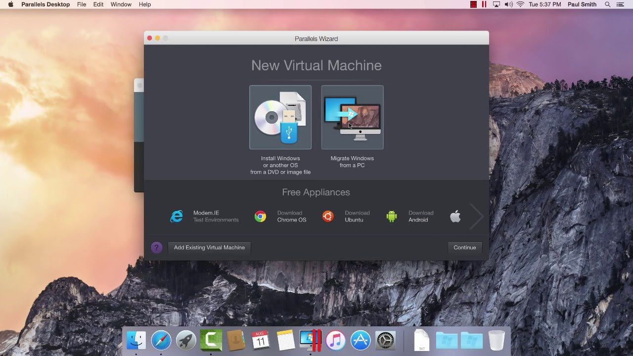 free virtual machine mac windows