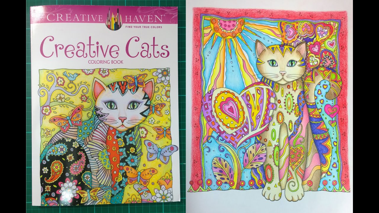 Colouring Book Review: Creative Cats walk through with tips and ...
