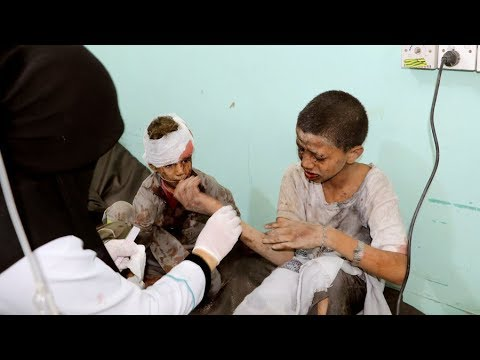 Yemen: Saudi-led Airstrikes Hit School Bus, Killing Children