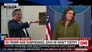 CNN's CRY BABY Jim Acosta keeps getting shut down by  Sarah Sanders  AGAIN TODAY