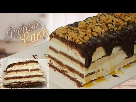Peanut Caramel Icebox Cake I Leckeres Erdnuss Karamell Dessert