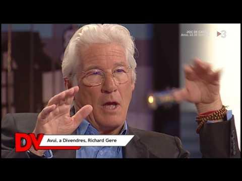 """Entrevista a Richard Gere a TV3 - Programa """"Divendres"""" (20-4-2017)"""