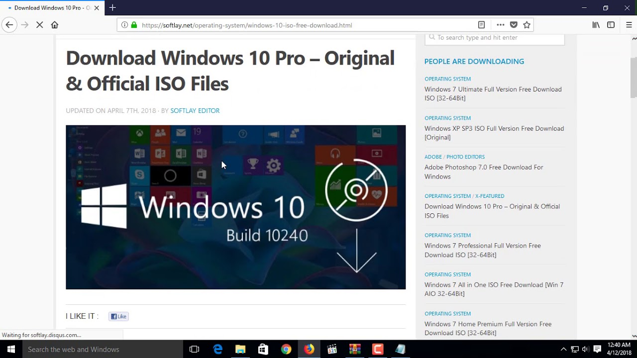 download windows 10 original iso