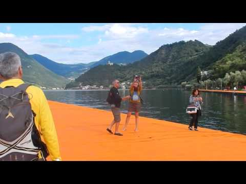 Christo's Floating Piers on the Iseo's Lake