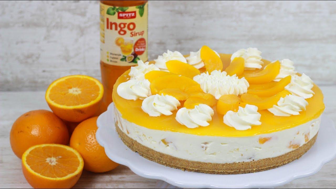 Solero Torte Ohne Backen I No Bake Cake I Pfirsich Maracuja Torte