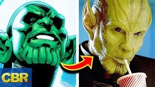 This Is How The Skrulls In Captain Marvel Are Different From The Comics
