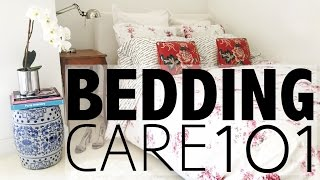Bedding Care 101     How to Wash a Duvet, Pillows, Fold a Fitted Sheet...
