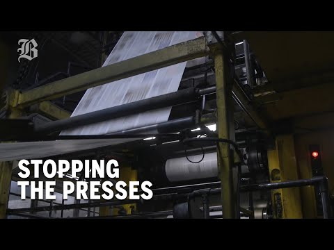 Stopping the presses: The Globe's Dorchester printing plant goes dark
