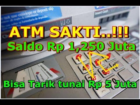 ❤ ATM SAKTI Saldo Rp1,2 Juta bisa Tarik Tunai Rp 5 Juta Lewat mesin ATM tertentu❤