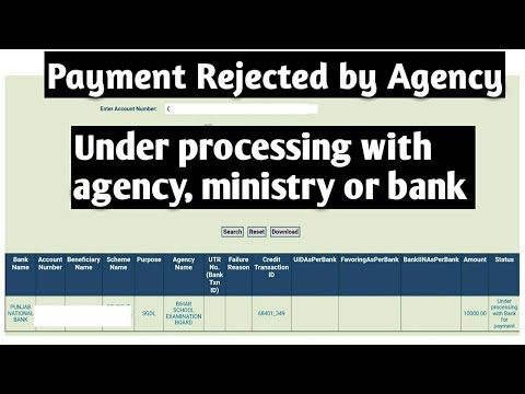 Scholarship Rejected by Agency   Under Processing with Agency or Ministry in PFMS