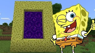 How To Make a Portal to the Spongebob Dimension in Minecraft PE | MCPE Journalist