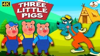 Three Little Pigs 4K - Hindi Story - Pappu Tv