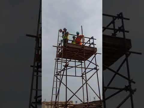 training on material falling at height Part -1 , Offshore infrastructures limited Kochi PDPP Project