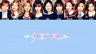 TWICE - SIGNAL MV + Lyrics Color Coded HanRomEng