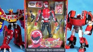 파워레인저 다이노포스 고버스터즈 레드 버스터와 또봇 z 티라노킹 장난감 unboxing power rangers gobusters red toys