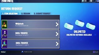 How to Have *UNLIMITED* Refunds in Fortnite SEASON 5! Refund as many SKINS as you WANT!