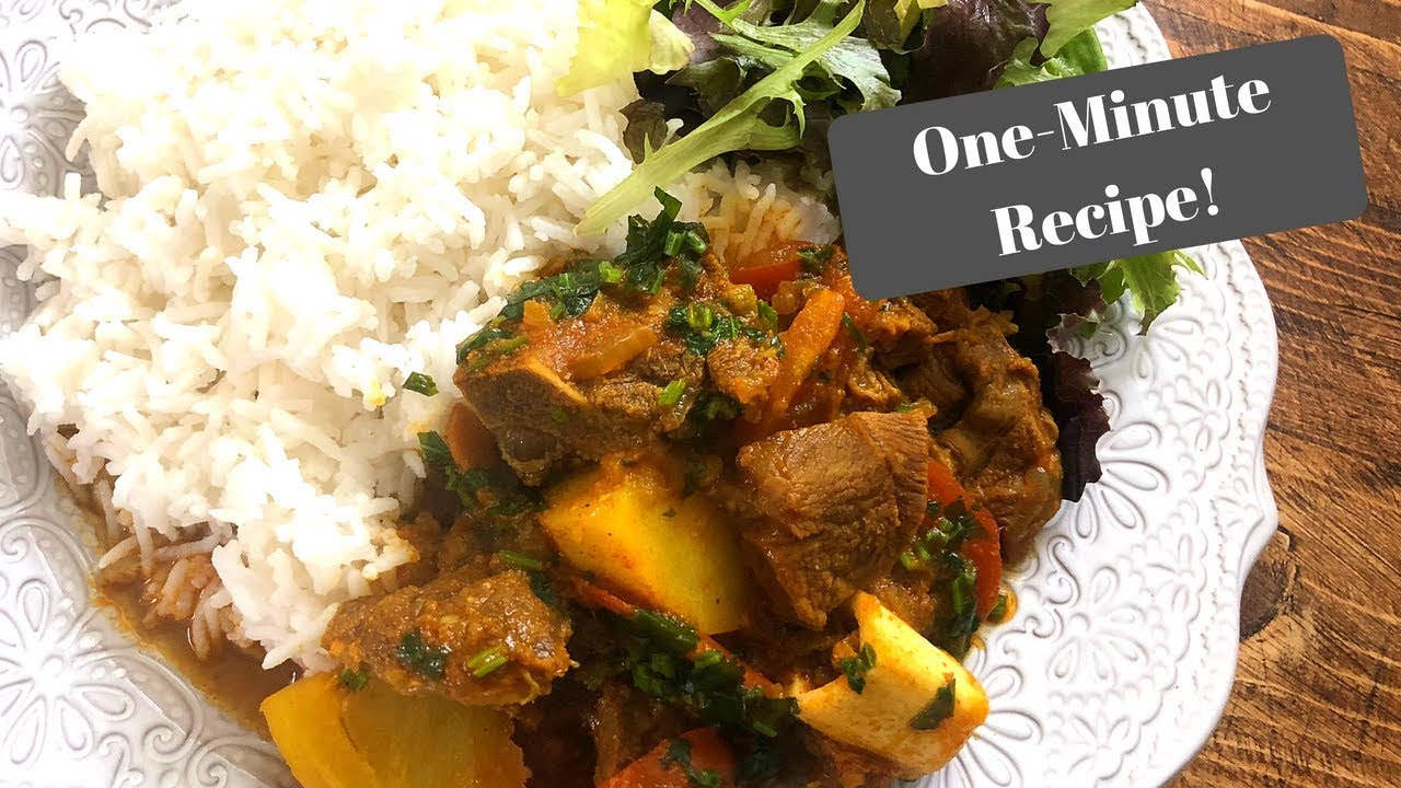 Slimming World Syn Free Lamb Curry I One Minute Recipe