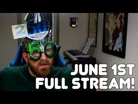 June 1st, 2016, Entire Twitch Stream with Jack! (Warden Wednesday!)