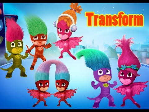 Pj Masks Transforms To Trolls Learning Videos For Toddlers