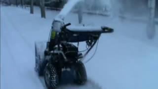 Снегоуборщик,тестирование и мелкий ремонт(В данном видео,я провожу тестирование снегоуборочной машины фирмы