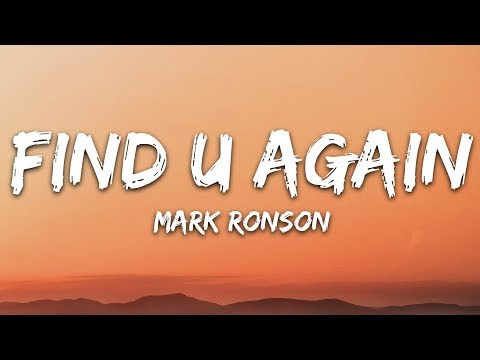 Find U Again Lyrics Youtube