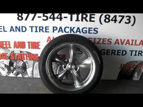 18 Inch Ridler Wheels 695 Gunmetal Wheels Old School Muscle Car Rims Staggered fit 18x8 `8x95