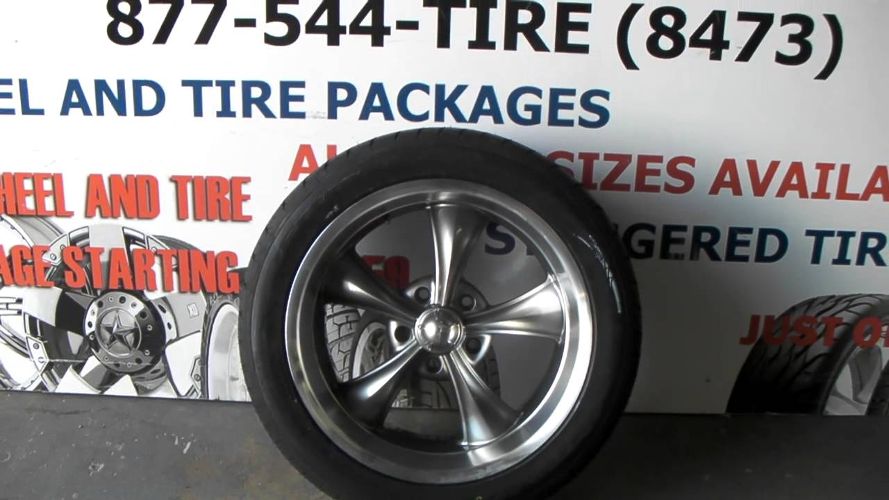 18 Inch Ridler Wheels 695 Gunmetal Wheels Old School Muscle Car Rims
