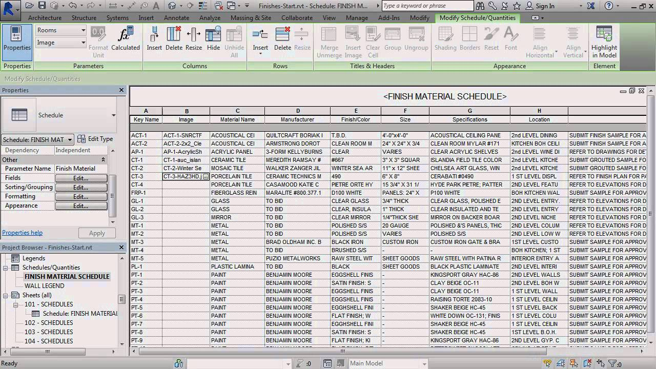 revit 2015 images in schedules youtube