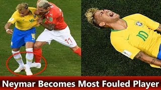 Neymar Becomes Most Fouled Player in World Cup 2018 | Sports news football | Sports news football