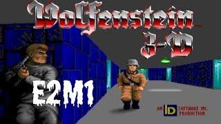 Wolfenstein 3D (100%) Walkthrough (E2M1)