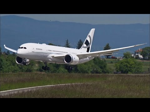 $100,000,000 MEGA JET BBJ 787 ((LIVE)) COCKPIT FEED