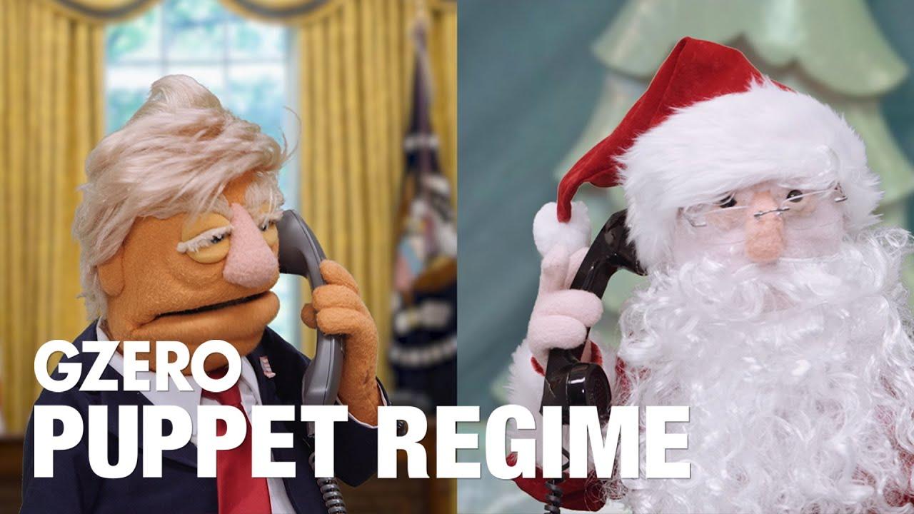 President Trump asks Santa Claus for a favor | PUPPET REGIME | GZERO #Regime