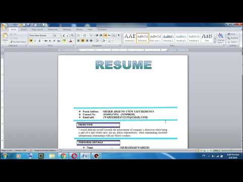 How to Insert Photo in Resume and CV