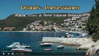 Urlaubs-Impressionen 2012 aus Rabac(Kroatien) u. Hotel Valamar Bellevue.wmv