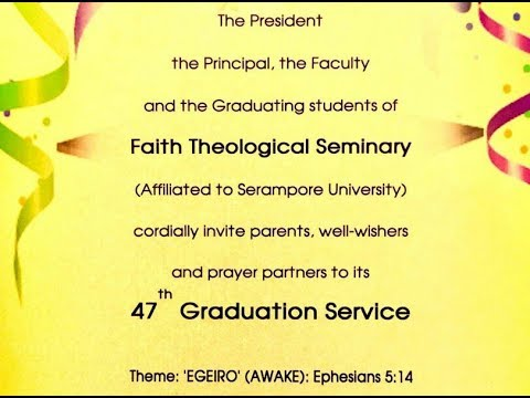 2018 Faith Theological Seminary Manakkala Graduation - MGM Ministries